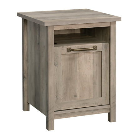 Better Homes & Gardens Modern Farmhouse Side Table with USB, Rustic Gray - Nickel Side Table