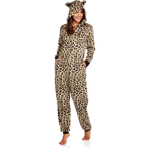 Body Candy Juniors Microfleece Sleepwear Adult Onesie Costume Union Suit Pajama with Critter Hood