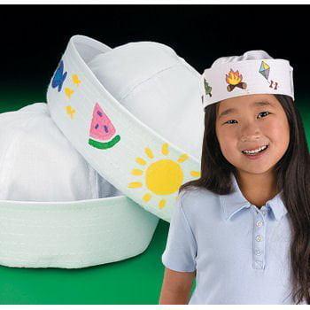 Sailor Hats White Adult (1 DOZEN) - BULK for $<!---->