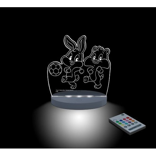 CompassCo Warner Bros. Looney Tunes, Baby Bugs and Baby Sylvester Playing Soccer Night Light
