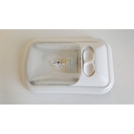 Single Fixture RV 12 volt Ceiling light Clear Lens By Class A Customs Ship from US 12 Volt Clear Bi Pin