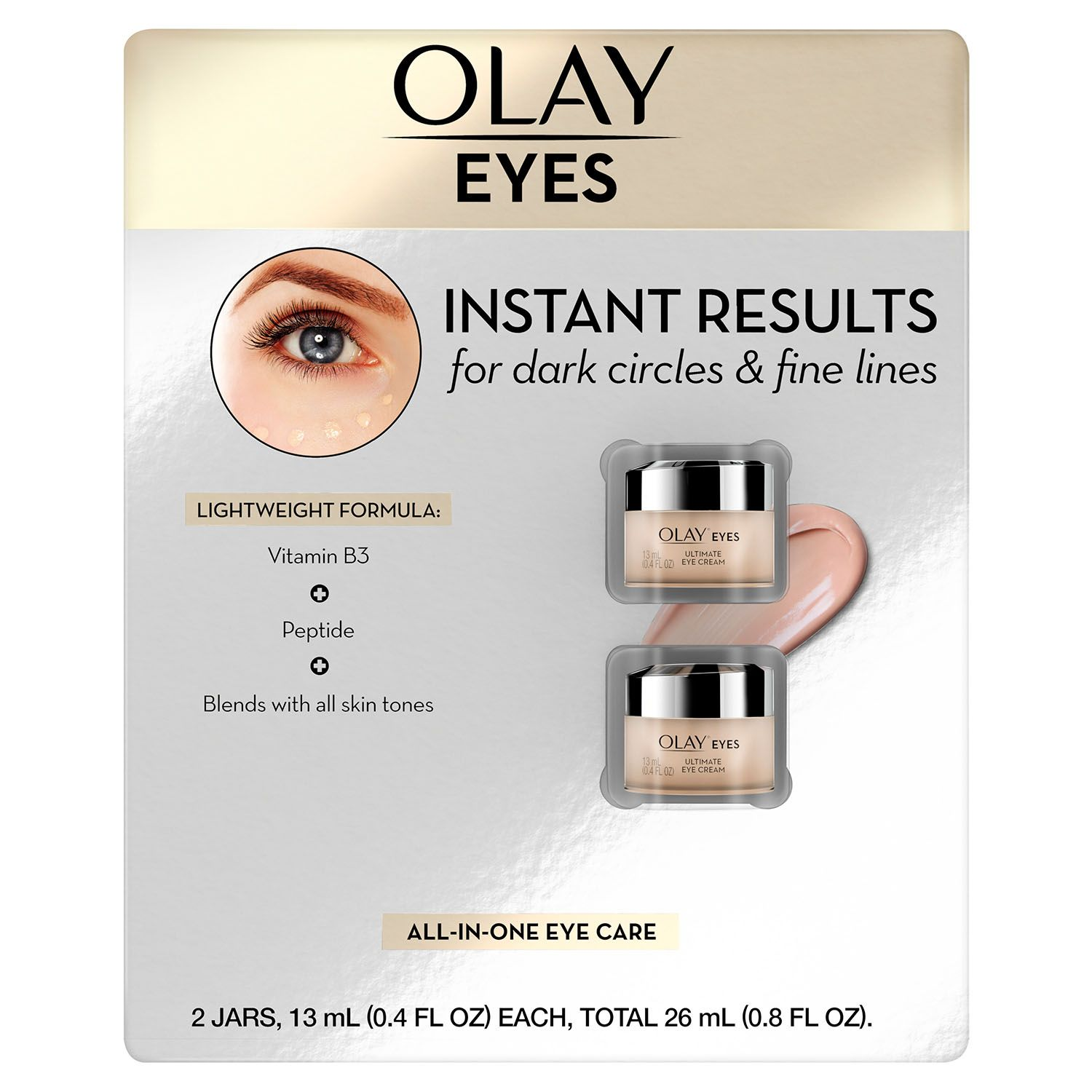 Olay Ultimate Eye Cream 0 4 Fl Oz 2 Pk Walmart Com