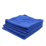 5 Pcs Water Absorbent Microfiber Fabric Car Clean Cloth Towel No-scratched for Auto Furniture Blue