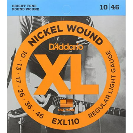 d 39 addario exl110 nickel wound electric guitar strings regular light 10 46. Black Bedroom Furniture Sets. Home Design Ideas