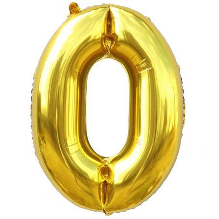 16 Foil Balloon Gold Number 0 Inflated Float Helium Balloon Kids