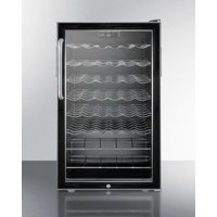 """Summit 20"""" Counter-Height Wine Cellar with Lock & Digital Thermostat"""