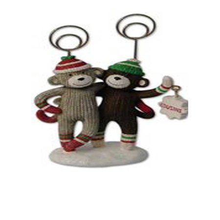 ST.Nicholas  monkey photo Holder Two photo clips allow you to display ()