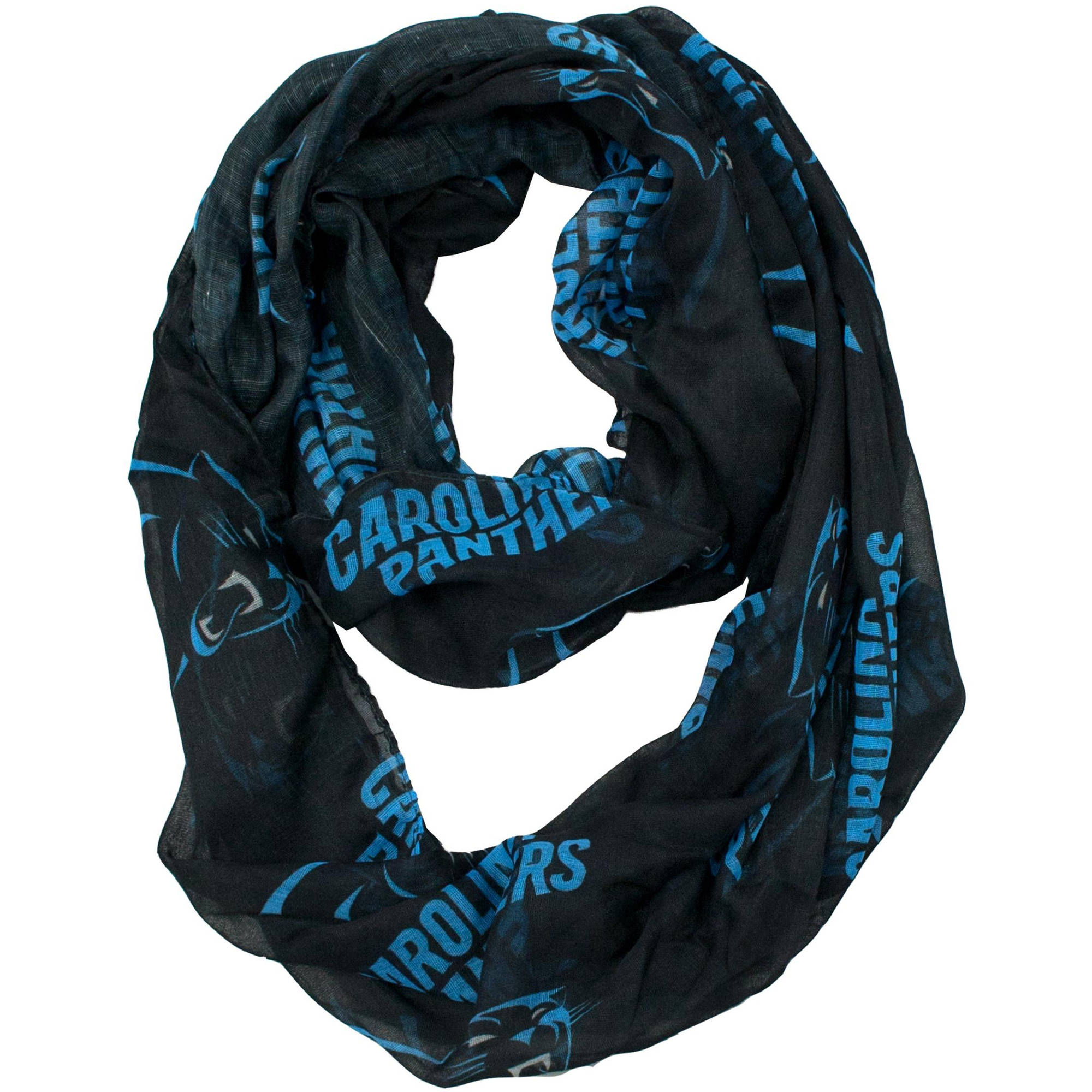 Little Earth - NFL Sheer Infinity Scarf, Carolina Panthers