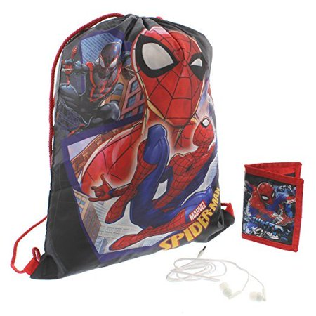 Spiderman Gift Set Drawstring Bag (Spider Man Bag)