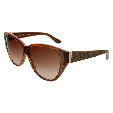 SF711S 216 Brown Cateye Sunglasses