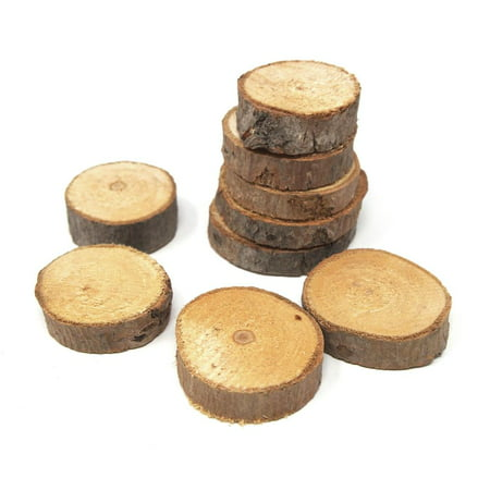 Rustic Round Natural Wood Slices, 2-Inch, - Wood Slice