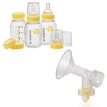 Medela - Breastmilk Bottle Set with Breastshield Valve & Membrane Bundle