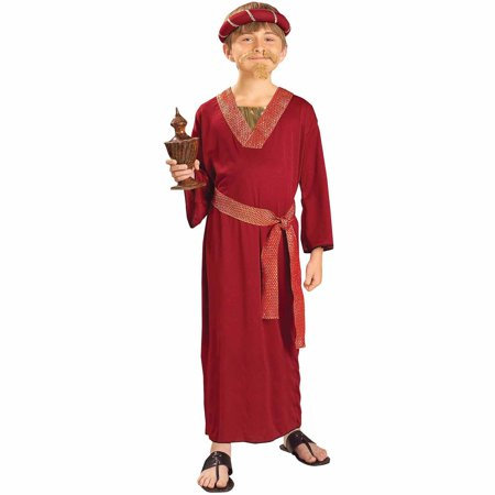 Burgundy Wiseman Child Halloween Costume