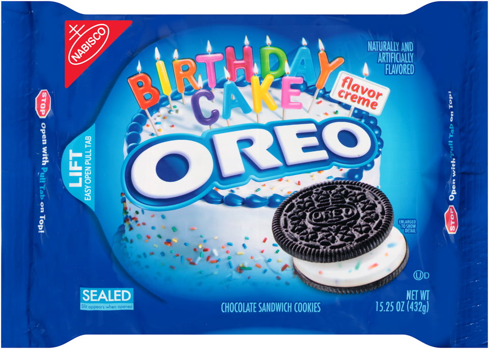 Nabisco Oreo Chocolate Sandwich Cookies Birthday Cake 1525 OZ