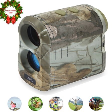 IPOW Laser Rangefinder - Black Friday Deal Range Finder for Hunting/Golf 650 Yards with Speed, Scan and Normal Measurements