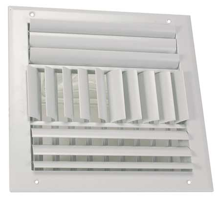 Sidewall/Ceiling Register,Adjustable ZORO SELECT 4MJL1