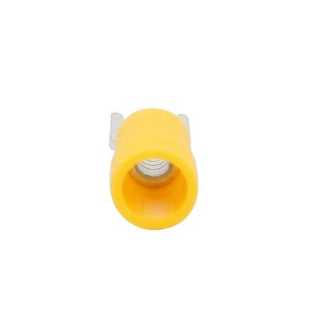 10Pcs AWG16-14 U Shape SV2-4S Insulated Spade Wire Crimp Terminal Yellow - image 2 de 3