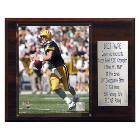 C&I Collectables NFL 12x15 Brett Favre Green Bay Packers Career Stat - Favre Green Bay Packers Framed