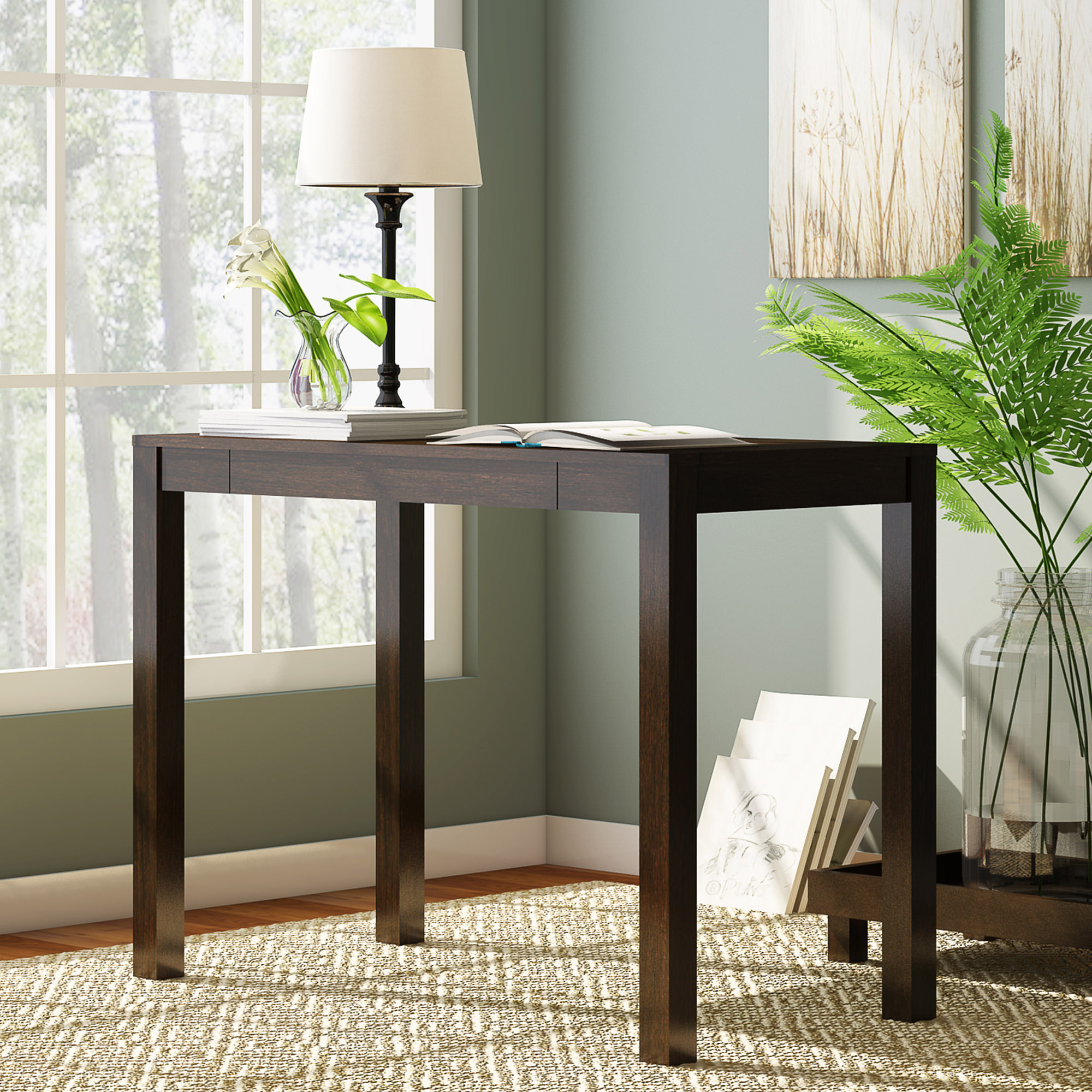 Mainstays Parsons Writing Desk with Storage Drawer, Multiple Finishes