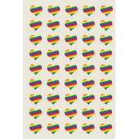 Poetose Press: Rainbow Hearts for LGBTQ+ Rights: A Poetose Notebook (50 pages/25 sheets) (Paperback)