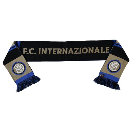 Inter Milan Scarf - Black/Gold - No Size