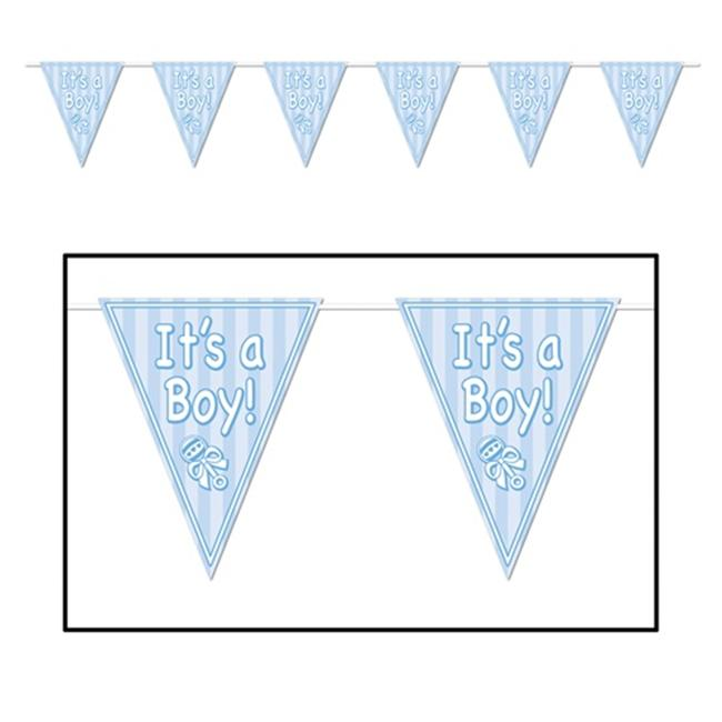 Its A Boy Pennant Banner Pack of 12 - image 1 de 1