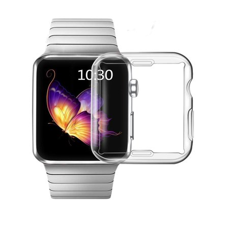 Apple Watch Screen Protector Case, Screen Protector Case All-Around Protective Case High Definition Clear Ultra-Thin Cover Watch Compatible with Iwatch Series 3/2/1(42mm Transparent) - image 1 of 10
