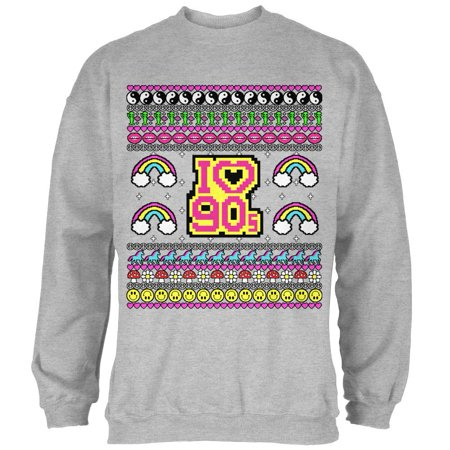 90s Christmas Sweaters.I Love The 90s Retro Nostalgia Ugly Christmas Sweater Mens Sweatshirt