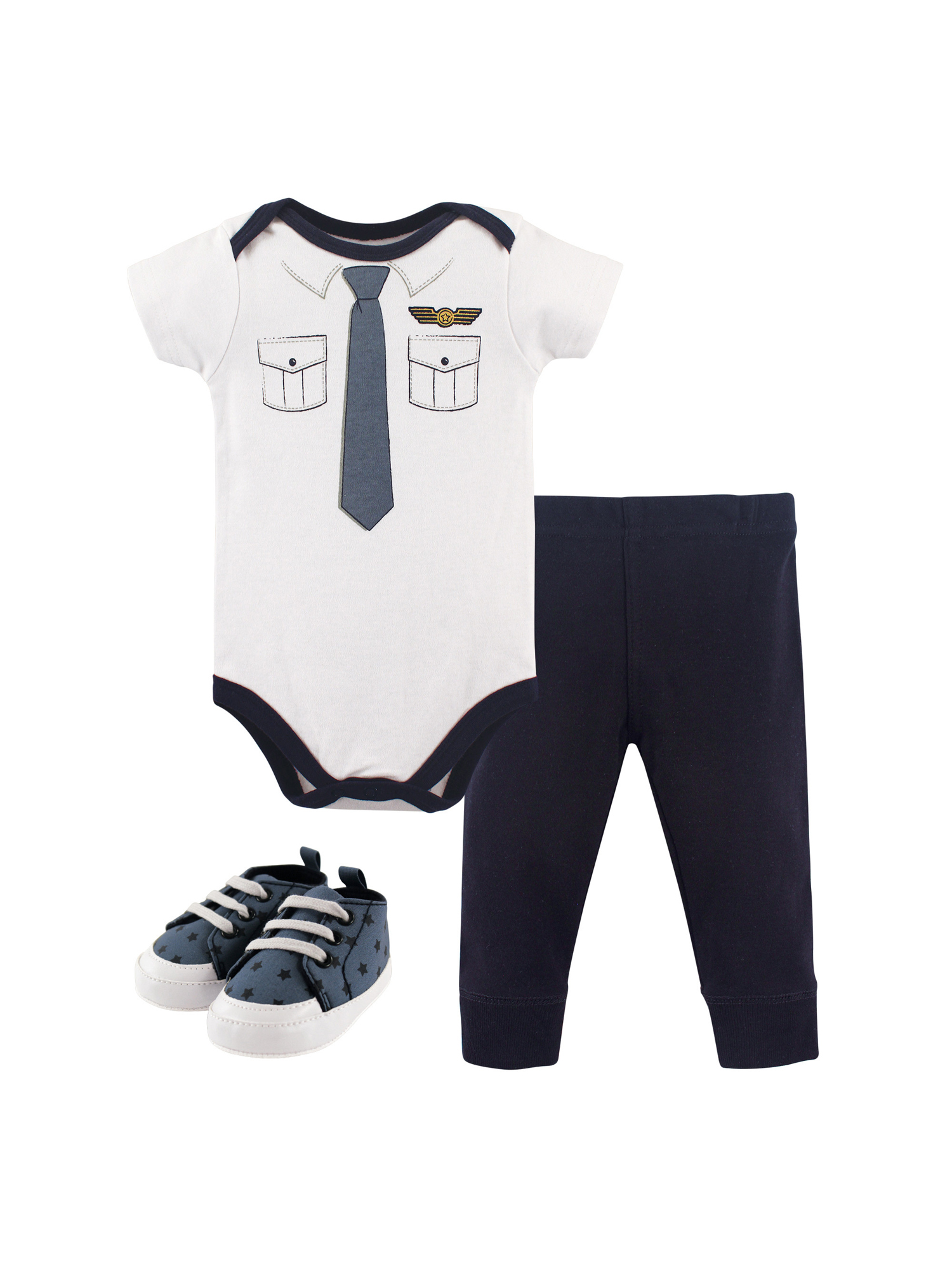 Baby Boys' Bodysuit, Pant & Shoes, 3pc Outfit Set