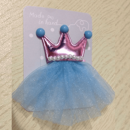 Outtop 2PCS Hair Clips Girls Imperial Crown Princess Leather Hair Style