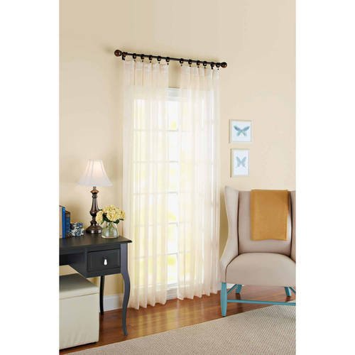 Better Homes And Gardens 84 Inch Taupe Satin Stripe Sheer Panel Pack