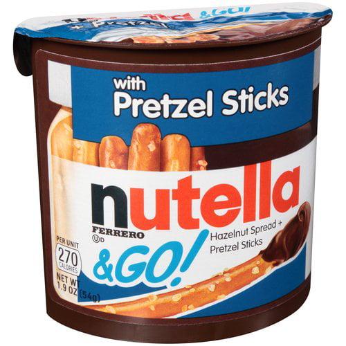 Nutella & Go! Hazelnut Spread + Pretzel Sticks, 1.9 oz