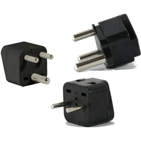 US to INDIA Travel Adapter Plug Universal ASIA Type E(C/F) M & D 3 Pack Set Kit