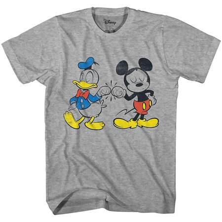 Disney Mickey Mouse Donald Duck Cool Disneyland World Tee Funny Humor Adult Mens Graphic T-Shirt Apparel - Funny Family Disney Shirts