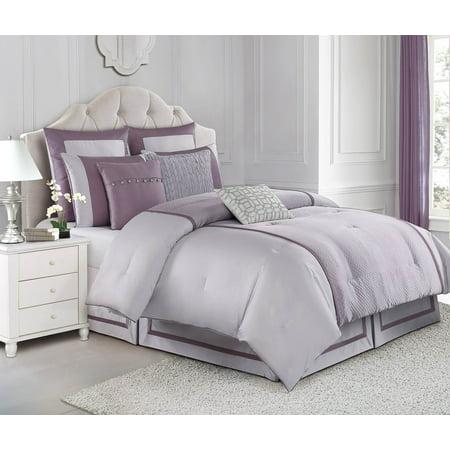 Judith Ripka Home Textured Jacquard Queen Comforter 3 Piece (Judith Ripka Sterling Mint)