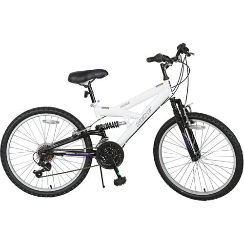 24 Next Px 4 0 Girls Mountain Bike With Full Suspension White