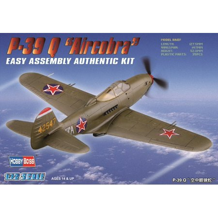 Basic Torso Model - P-39Q Airacobra Airplane Model Building Kit, 1-piece canopy, drop tank and basic cockpit insert By Hobby Boss