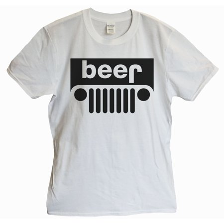 """9480fbe21 Funny Threadz - Funny Mens Jeep T-shirt """"Beer"""" Funny Beer T Shirt Gift For  Dad Large, White - Walmart.com"""