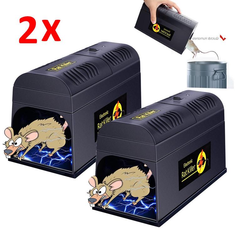 2Packs Electronic High Voltage Mouse Rat Rodent Killer El...