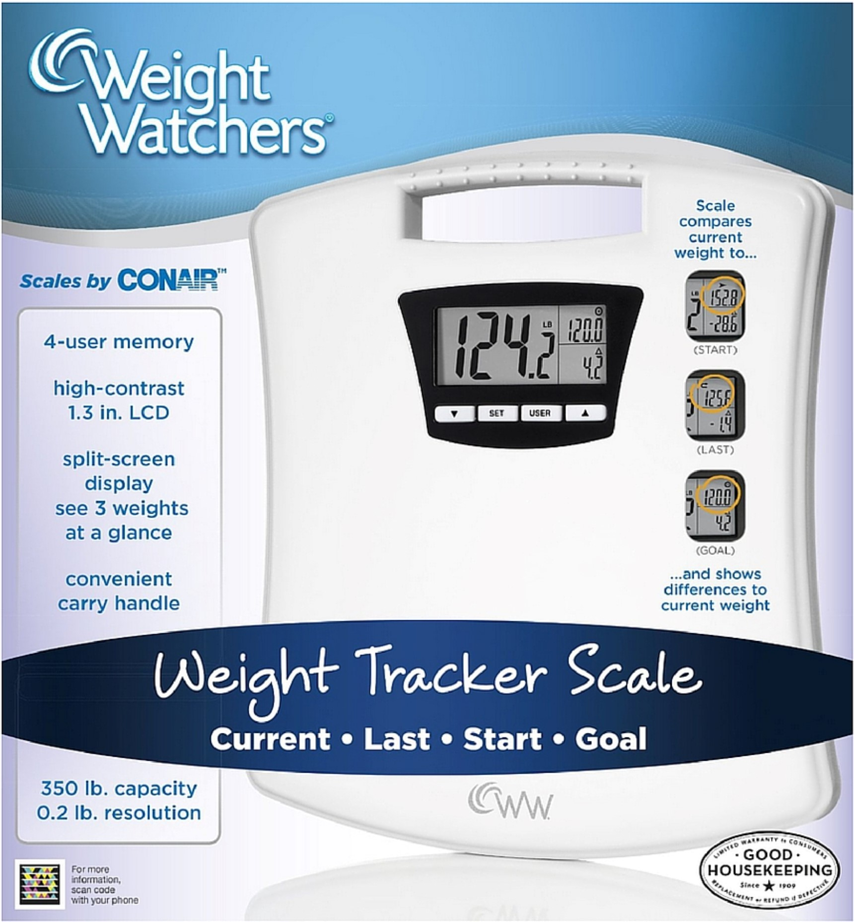 Weight Watchers Weight Tracker Scale 1 ea (Pack of 4)