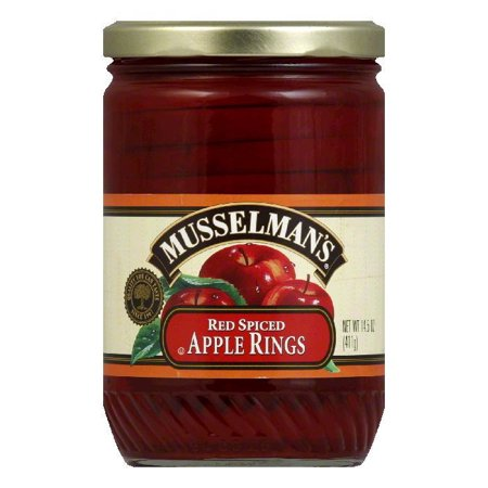 Musselman Spiced Red Apple Rings, 14.5 OZ (Pack of 12)