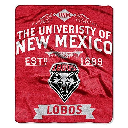 """NCAA New Mexico Lobos Plush Raschel Throw Blanket, Cherry, 50 x 60"""