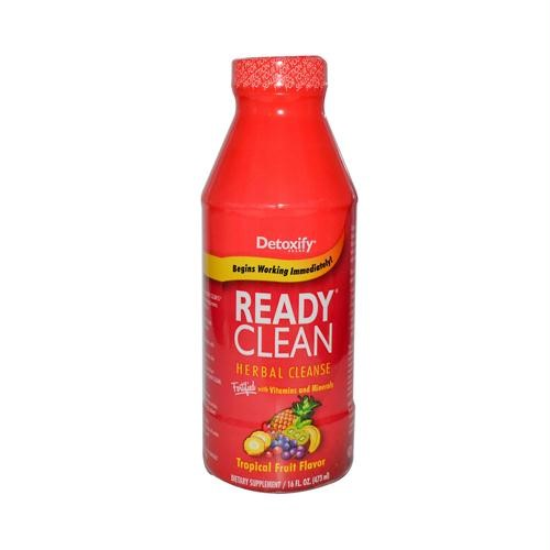 Detoxify Ready Clean Herbal Cleanse Drink, Tropical, 16 Fl Oz