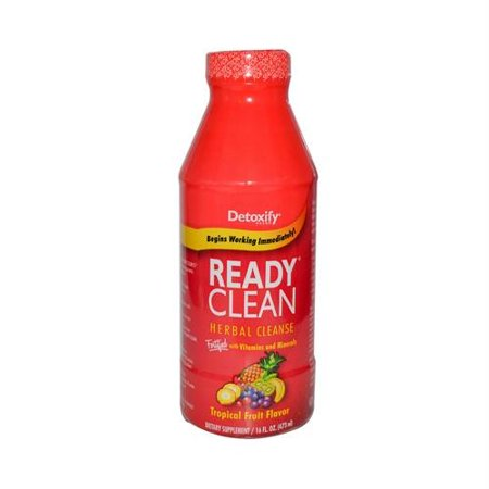 Detoxify Ready Clean Herbal Cleanse Drink, Tropical, 16 Fl - Xxtra Clean Herbal Cleanse