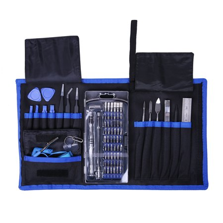 HDE Electronic Repair Computer Toolkit 76-in-1 Kit With Magnetic Screwdriver Set Pry Bars Anti Static Wristband and More ()