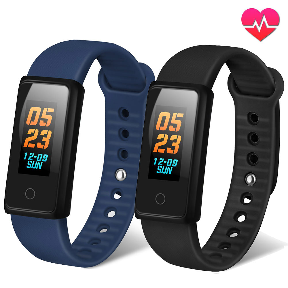 Waterproof Fitness Tracker Watch W Heart Rate Monitor VIPUS Color Screen Activity Tracker Blood Pressure Sleep Monitor Smart Bracelet Wristband Waterproof for Men Women & Kids Android IOS iPhone BLUE