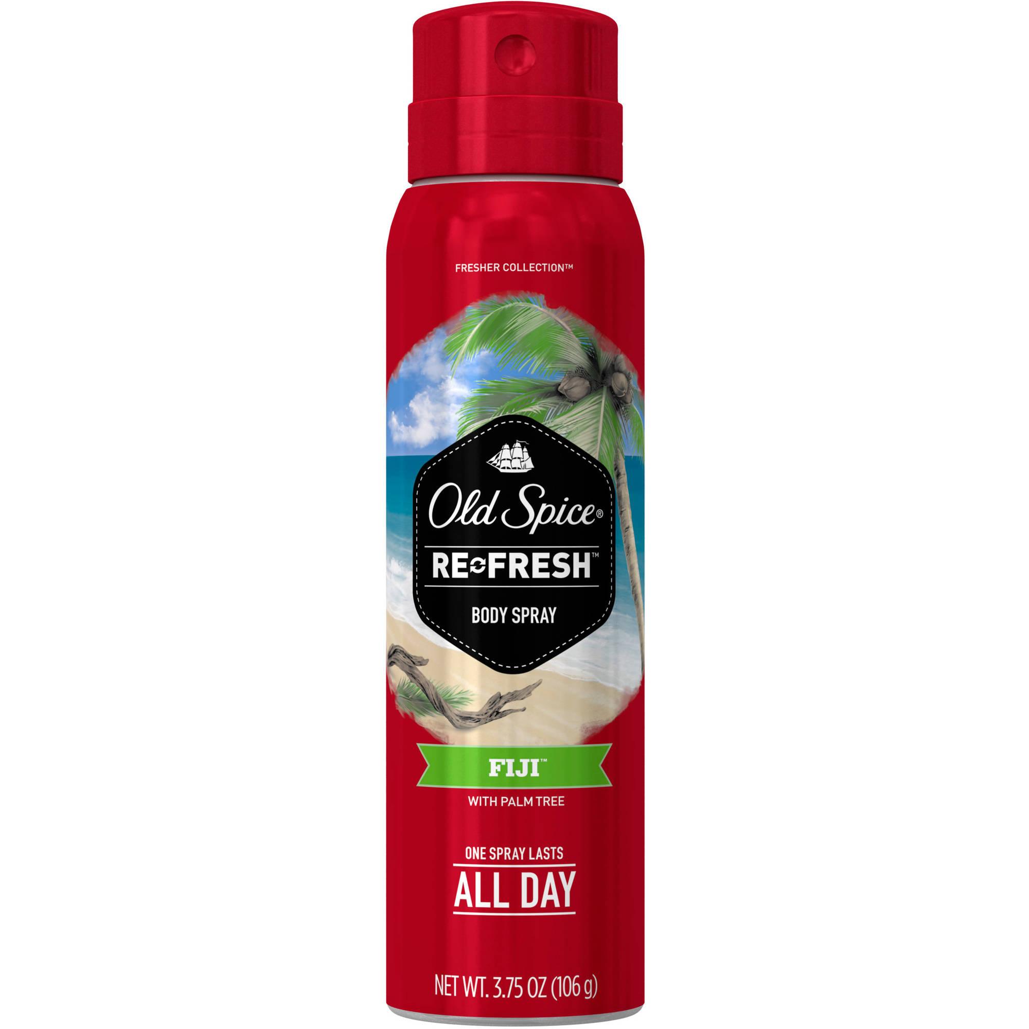 Old Spice Fresh Collection Refresh Fiji Body Spray, 3.75 fl oz