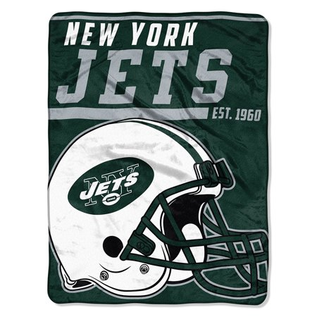 "NFL New York Jets ""40-Yard Dash"" 46""x 60"" Micro Raschel Throw - New York Jets Cake"