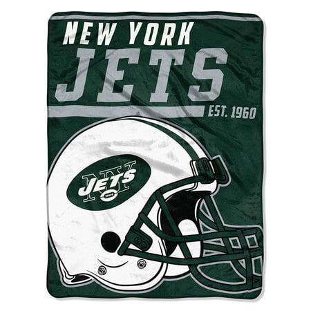 "NFL New York Jets ""40-Yard Dash"" 46""x 60"" Micro Raschel - New York Jets Cake"
