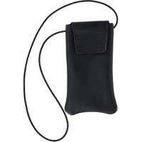Boston Leather Solid Leather Eyeglass Case with Neck String